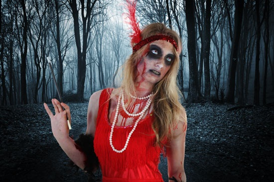 Zombie Flapper Costume With Background