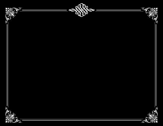 Printable Silent Film Template Black