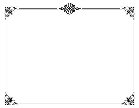 Printable Silent Film Template White
