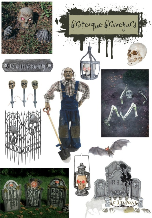 Grotesque Graveyard Halloween Decorations