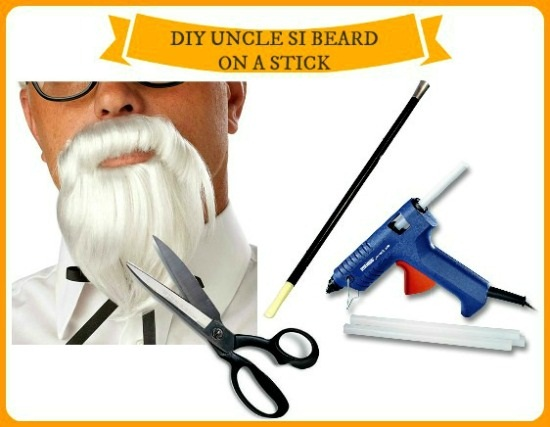 diy facial hair on a stick