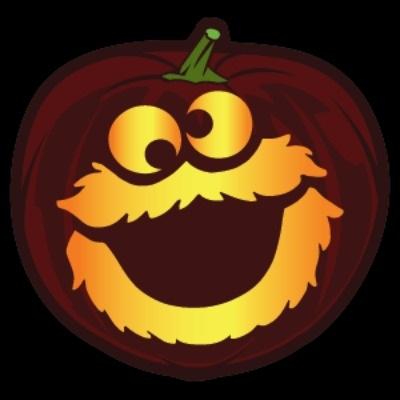Cookie Monster Pumpkin Stencil