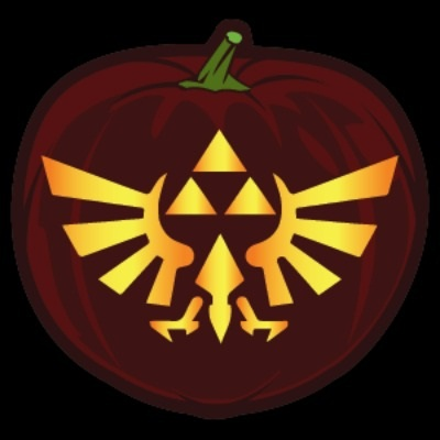 Zelda Shield Pumpkin Stencil