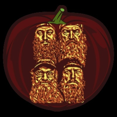 Duck Dynasty Pumpkin Stencil