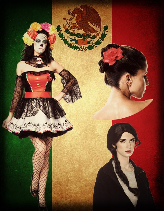 day of the dead costume wig