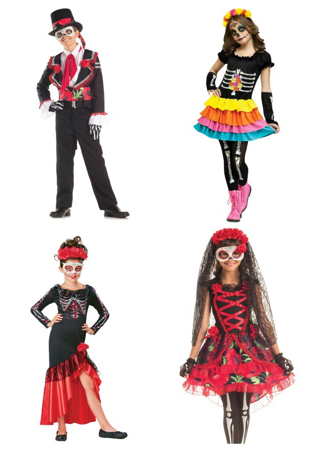 Child Day of the Dead Costume Collage