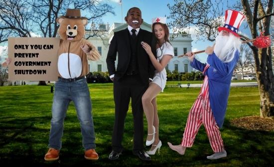 Government Shutdown Group Costume