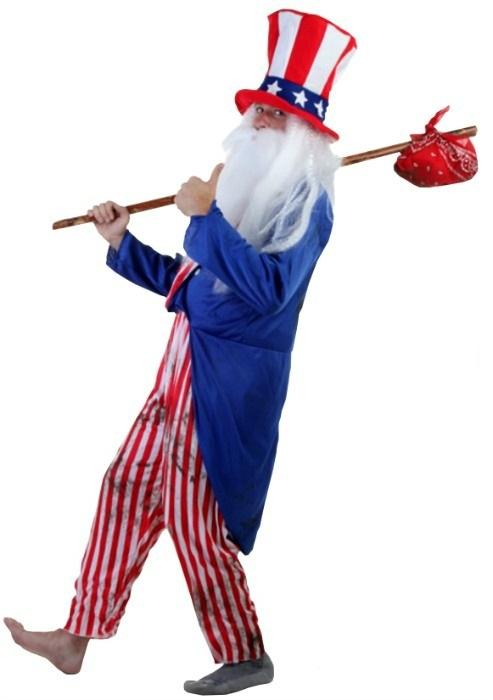 Bum Uncle Sam Costume