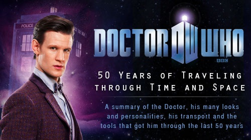 Doctor Who Infographic 50th Anniversary