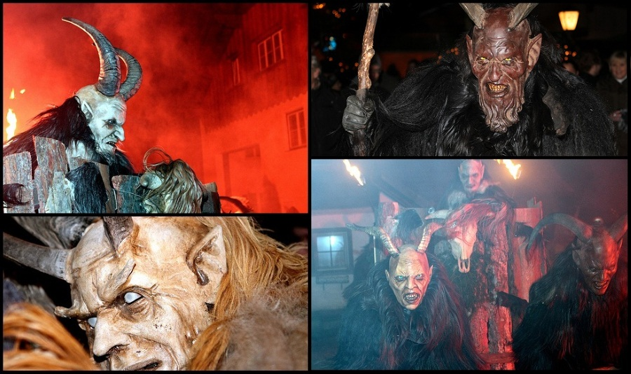 Krampus Run Collage