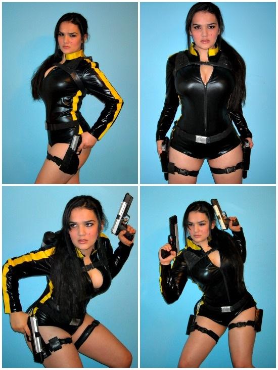DIY Lara Croft Wetsuit Costume Images
