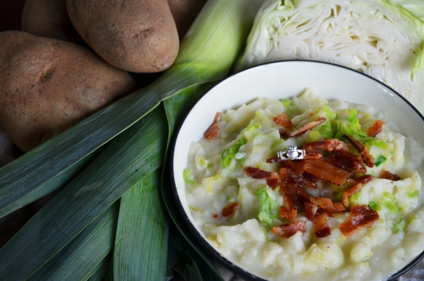 Traditional Irish Colcannon Recipe with Bacon