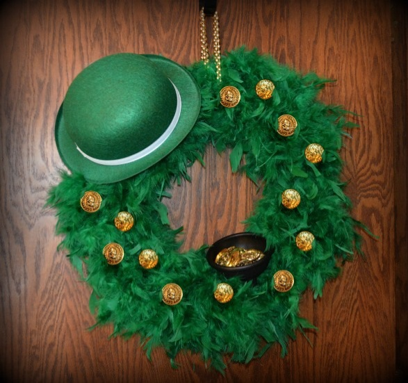 DIY St Patricks Day Wreath