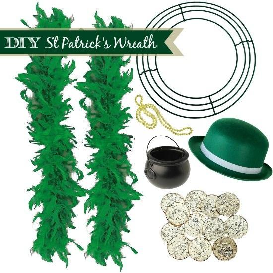 DIY St Patricks Day Wreath Instructions