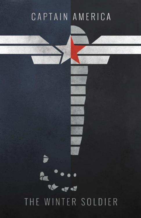 Minimalist Captain America Symbol Poster
