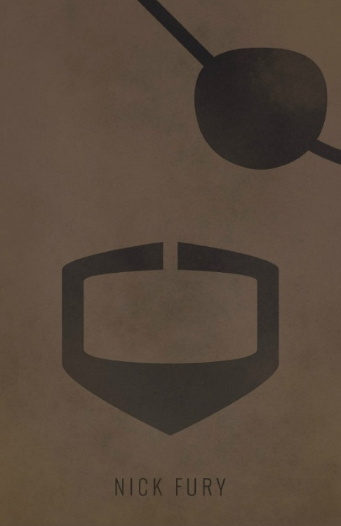 Artistic Nick Fury Poster