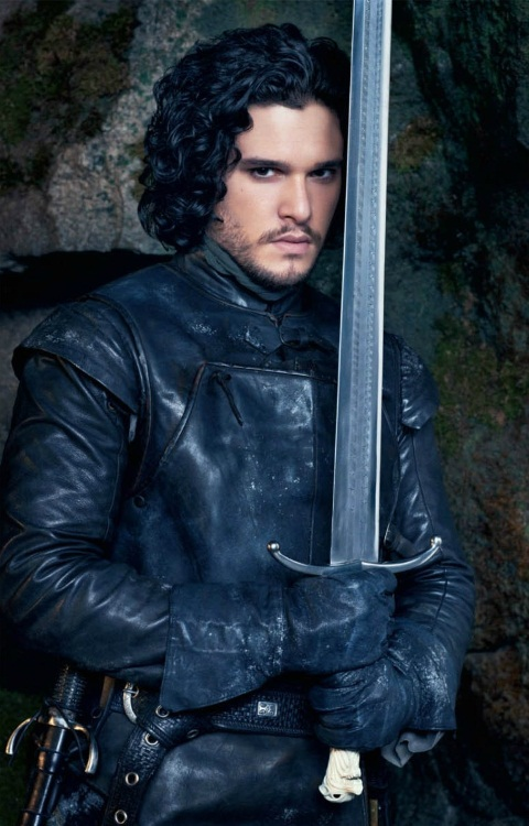 Jon Snow Black Leather