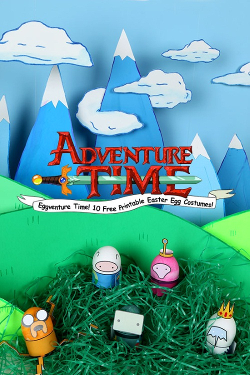 Adventure Time Free Easter Egg Printable Costumes