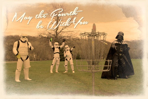 May the Fourth Be With You Postcard Frisbee