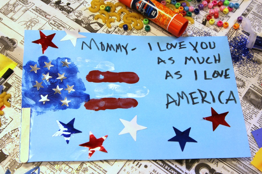 Kid Superhero Mother's Day Card - Captian America