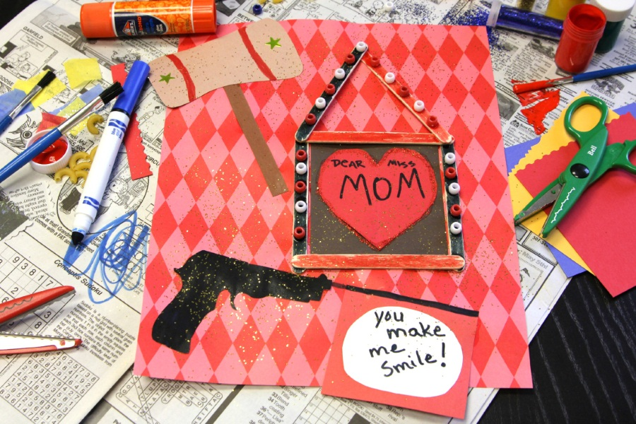 Kid Superhero Mother's Day Card - Harley Quinn