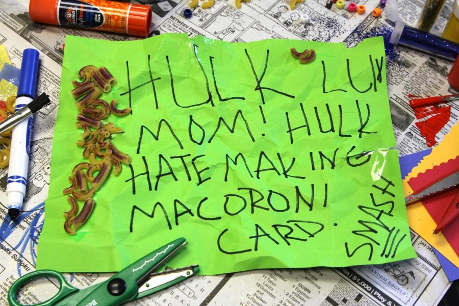 Kid Superhero Mother's Day Card - Hulk