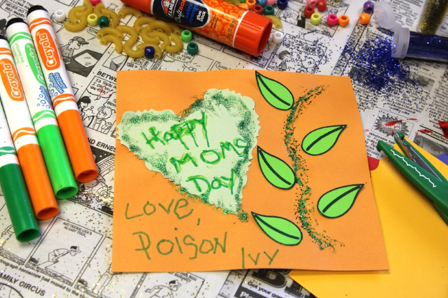 Kid Superhero Mother's Day Card - Poison Ivy