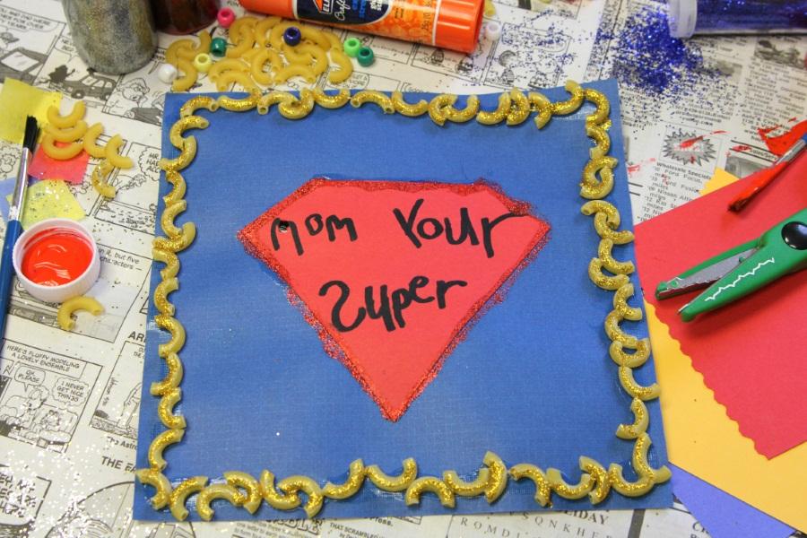 Kid Superhero Mother's Day Card - superman