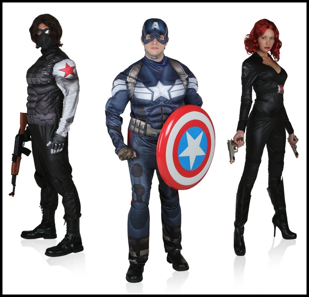 captain america winter soldier and black widow