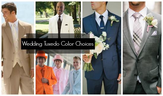 Wedding Tuxedo Color Choices