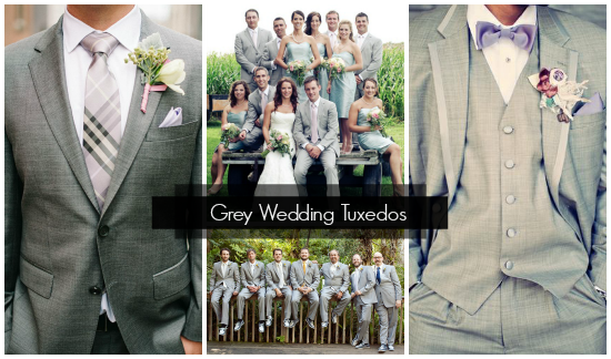 Grey Wedding Tuxedos for Grooms