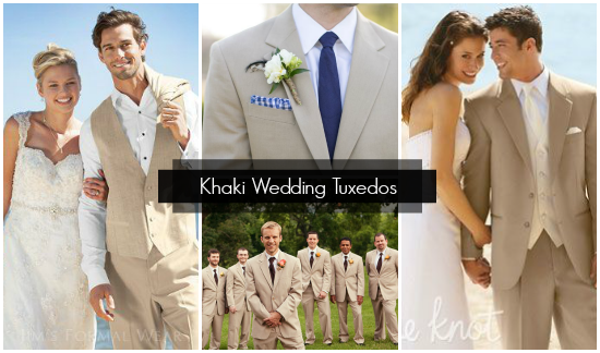 Khaki Wedding Tuxes