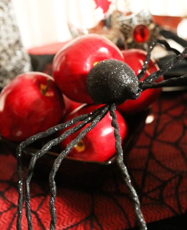 Glitter Spider Halloween Prop