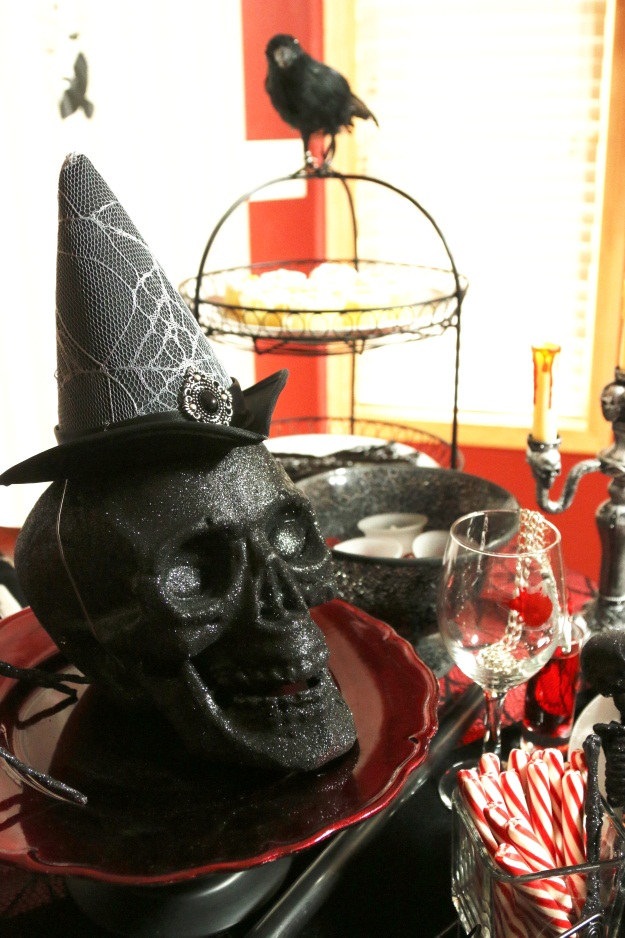 Glitter Skull Halloween Prop