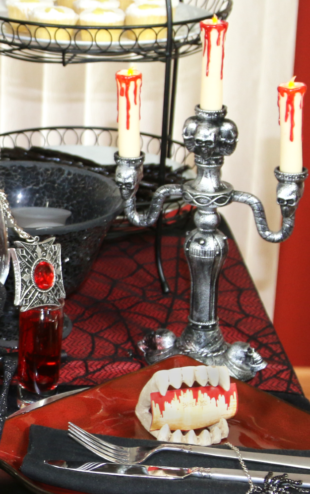 Candelabra Gothic Table Setting