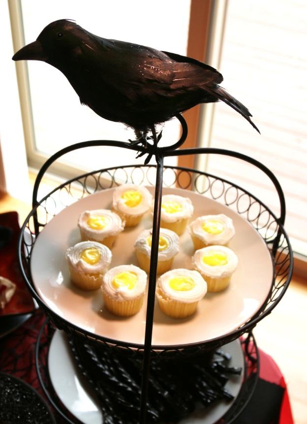 Glitter Crow Halloween Prop