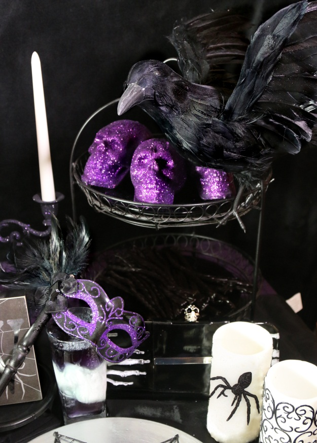 Whimsical Halloween Table Scene