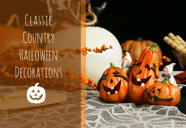 Classic Halloween Decorations and Table Setting