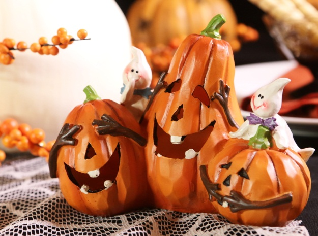 Classic Country Halloween Pumpkin trio