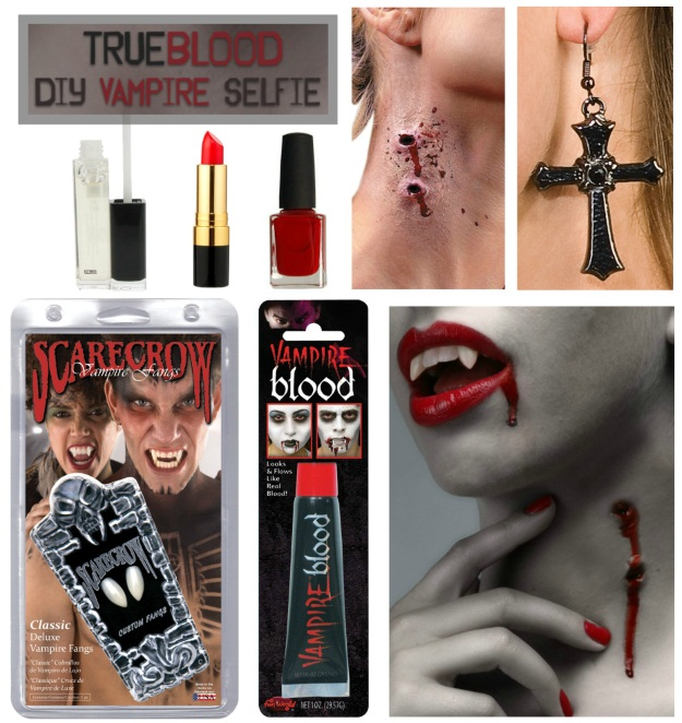 Products needed to take True Blood Vampire Selfie