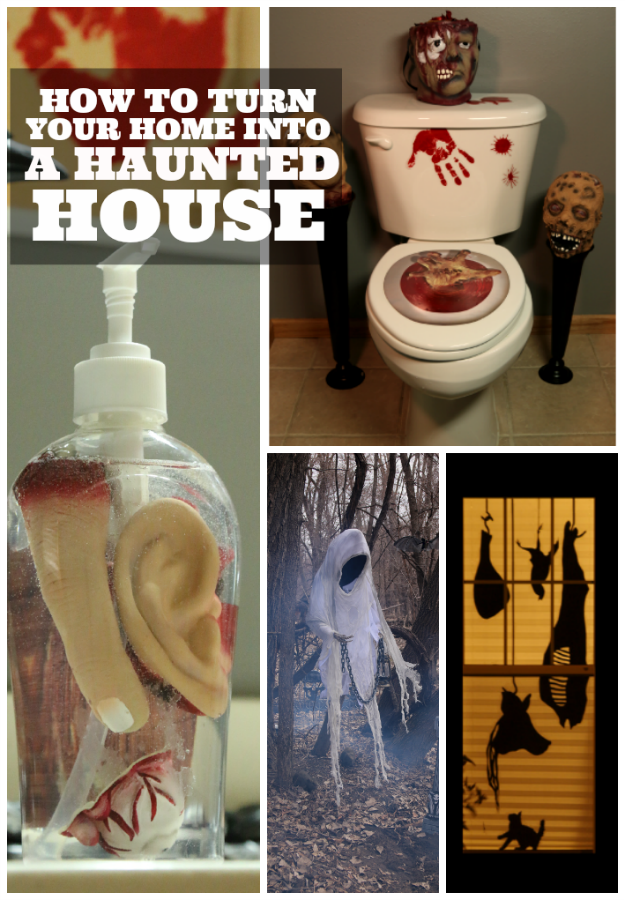 how to turn your home into a haunted house halloween costumes blog - Homemade Halloween House Decorations