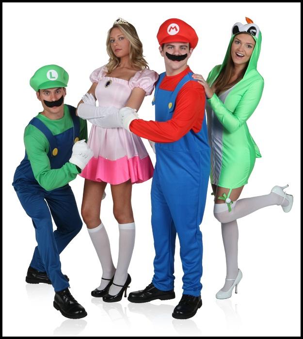 Mushroom Kingdom group costumes