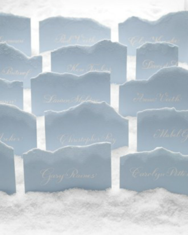Frozen Wedding Seating Cards