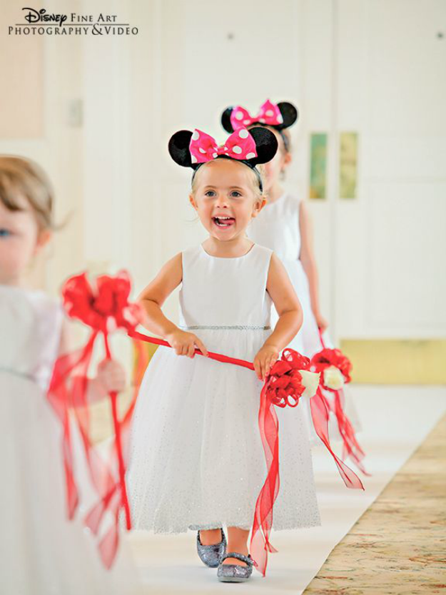 Minnie Mouse Flower Girl