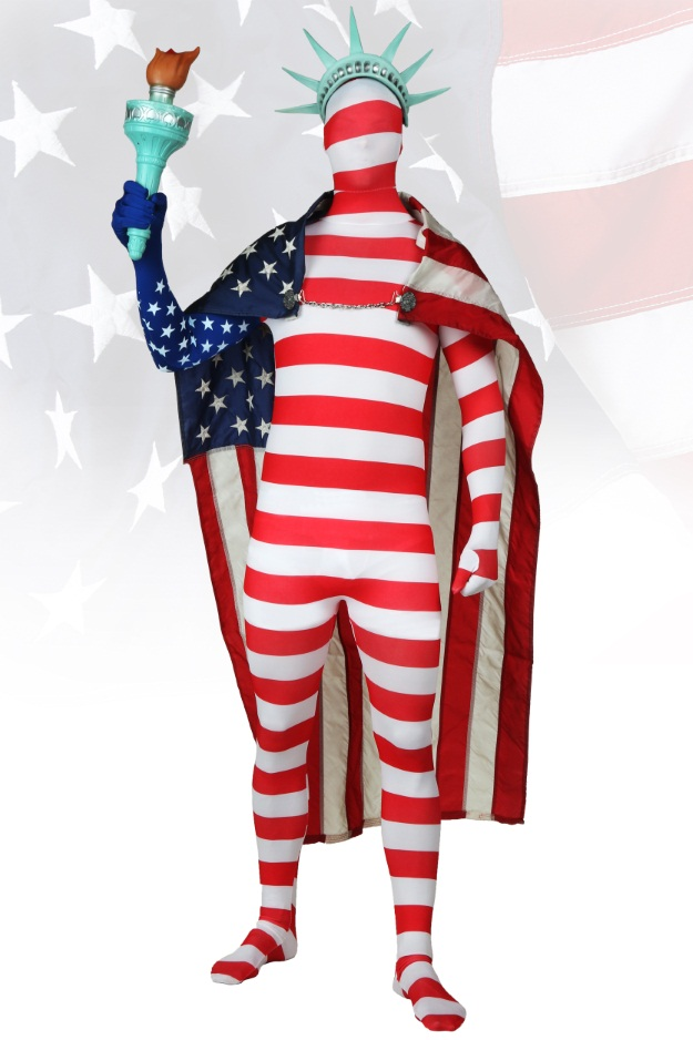 USA Skin Suit Costume