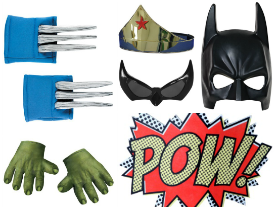 Superhero Photobooth Props
