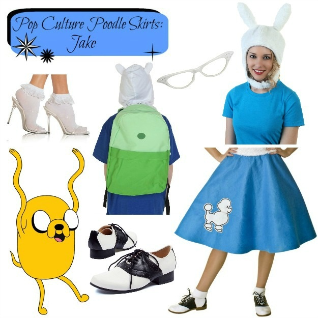 Jake Adventure Time Poodle Skirt