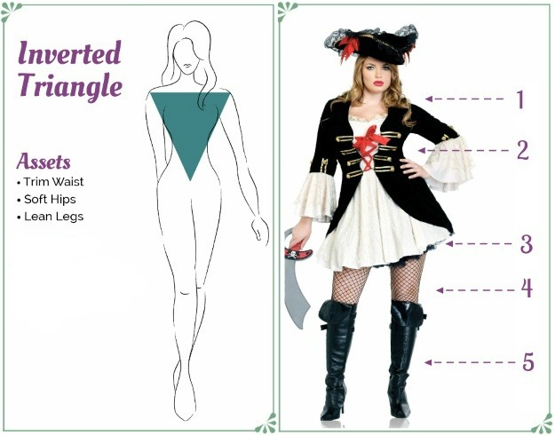 Pirate Costume for an Inverted Triangle Body Shape - How to dress to flatter your figure