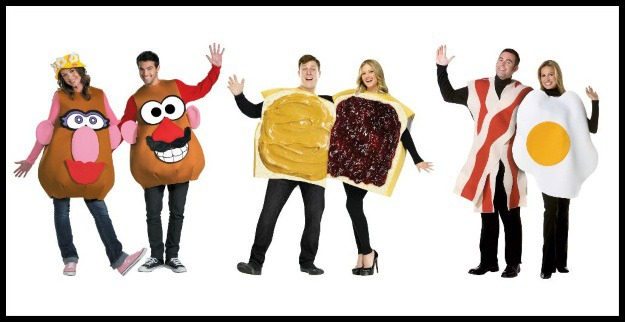 Mr. and Mrs. Potato Head, Peanut Butter and Jelly, and Bacon and Eggs