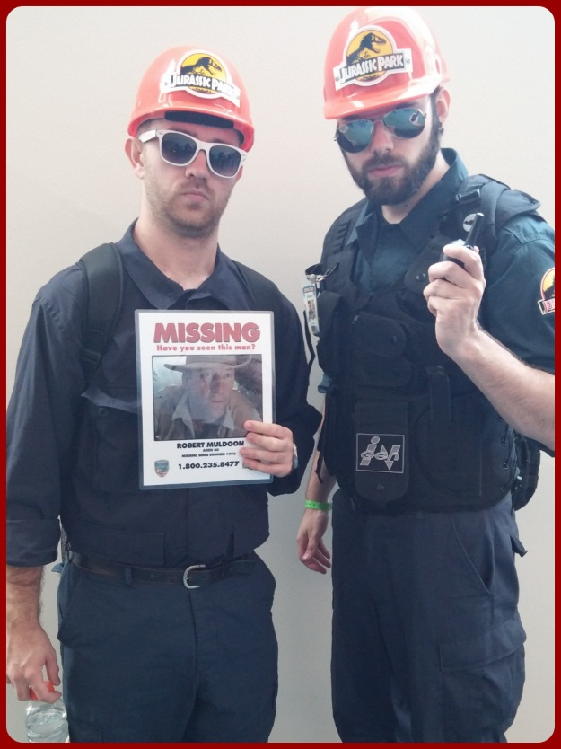 Jurassic Park Game Workers Costumes SDCC 2014